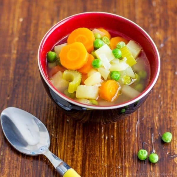 5-Ingredient Spring Vegetables Soup