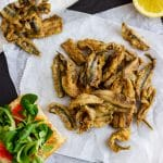 Fried fresh anchovies