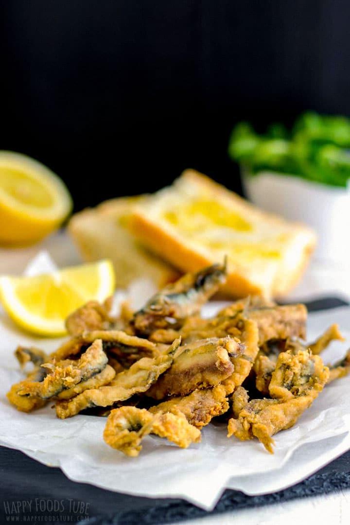Spanish tapas fried anchovies