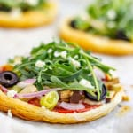 Vegetarian Puff Pastry Pizzas Pin