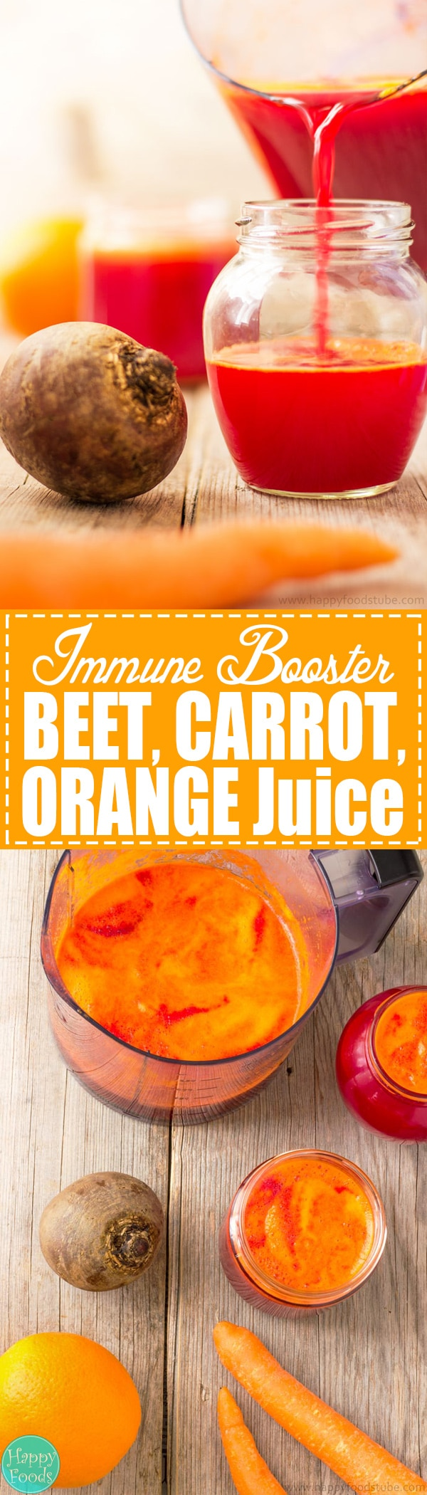 Immune Booster Beet, Carrot & Orange Juice - Fresh fruit and vegetable juices are perfect for boosting your body with nutrients. Detox your liver and help you to stay healthy. Best cleanse juice recipe