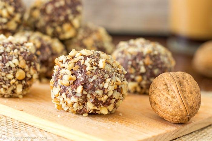 Dark Chocolate Cherry Walnut Truffles Recipe — Dishmaps