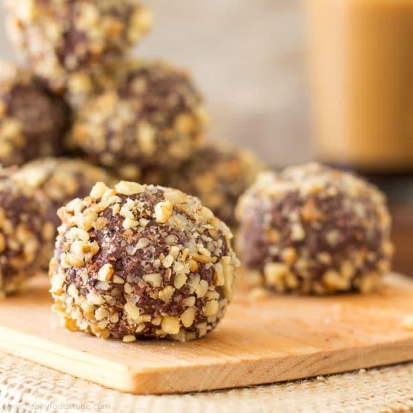 Walnut Dark Chocolate Truffles {Video}