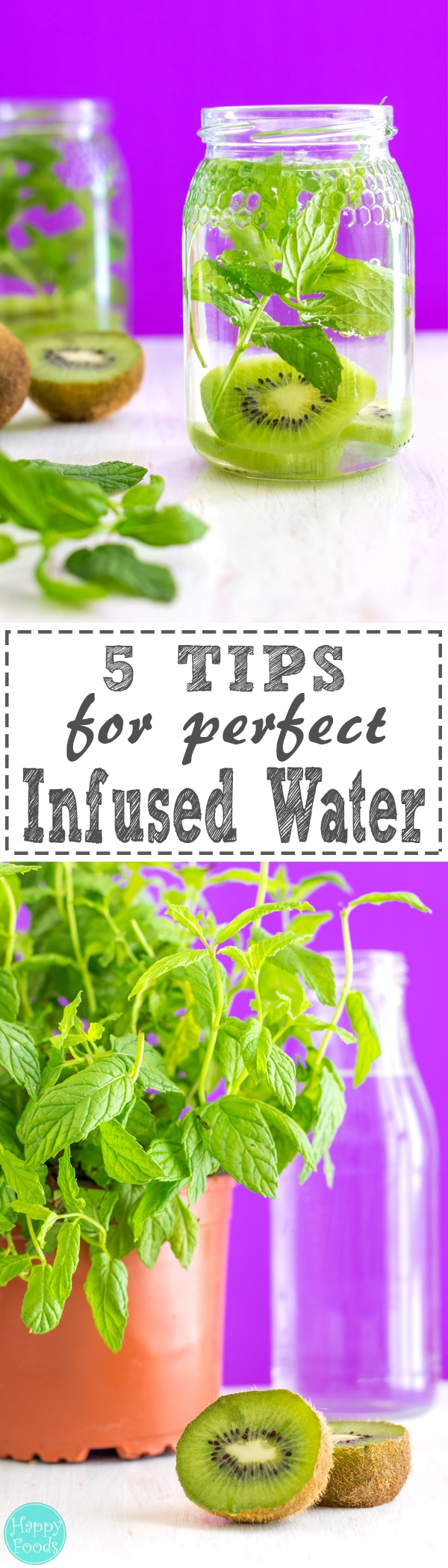 5 Tips for perfect Infused Water - Perfect for hydrating on hot summer days! Naturally flavored drink ❤ | happyfoodstube.com