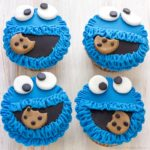 Cookie Monster Fondant Cupcake Toppers (Video)