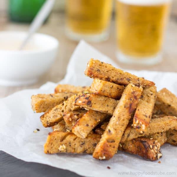 Dry-Fried Garlic Sourdough Soldiers (Küüslauguleivad)
