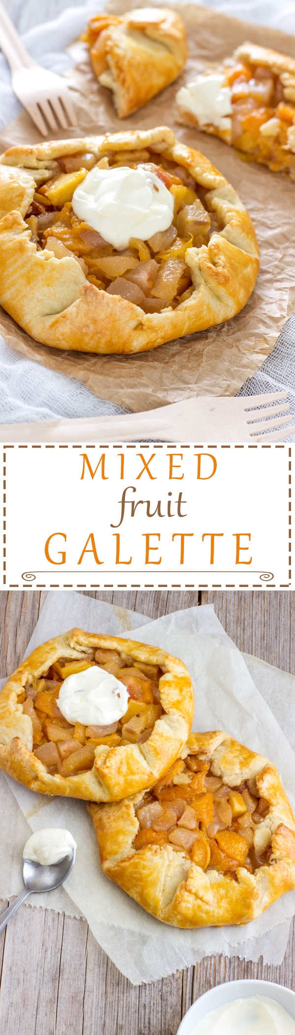Mixed Fruit Galette is one of the easiest things to bake. What is great about #galette is that you can use any fruit you like. It's rustic, which also means it doesn't have to look perfect but it still will taste amazing. Easy homemade dessert recipe