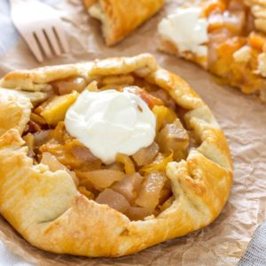 Rustic Mixed Fruit Galette - Easy baking recipes!   happyfoodstube.com