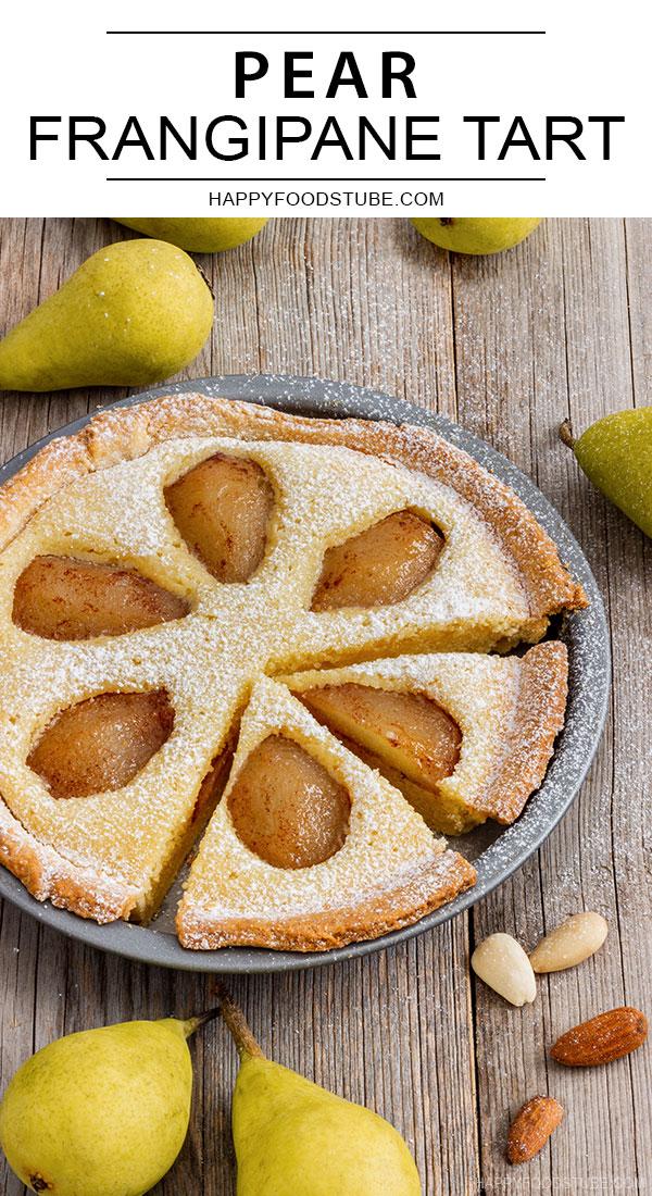 Pear frangipane tart pin