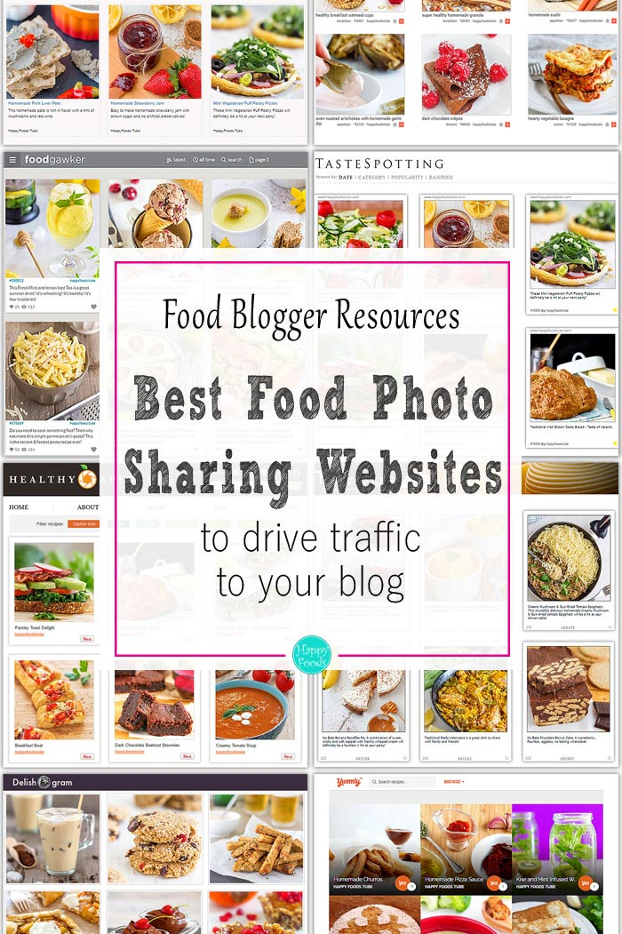 Best food photo sharing websites to drive traffic to your blog. Food blogger resources. | happyfoodstube.com