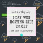 1-Day Web Hosting Sale – Huge Savings