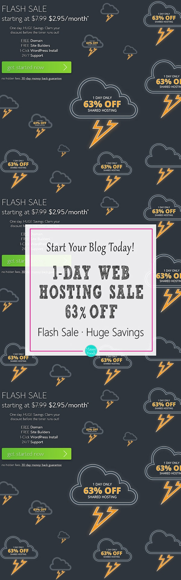 Bluehost Web Hosting 1 Day Flash Sale Huge Discount
