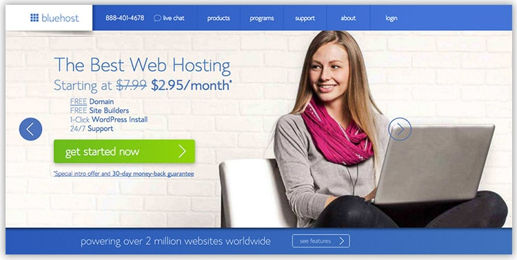 Bluehost Web Hosting 1 Day Flash Sale