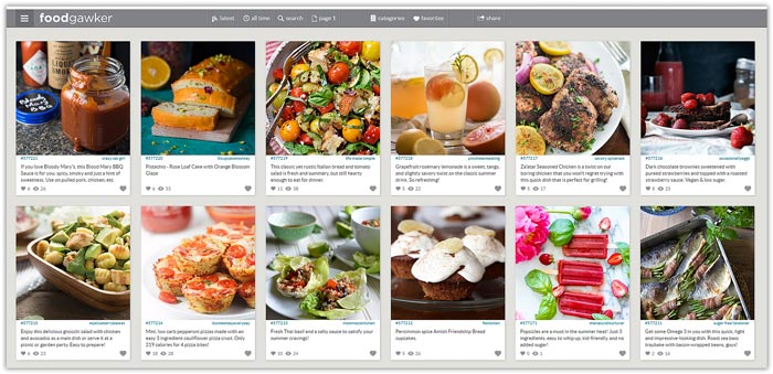 Best Food Photo Recipe Sharing Websites - Food Blogger Resources - Foodgawker | happyfoodstube.com