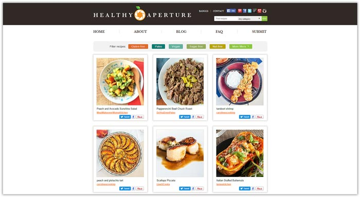 Best Food Photo Recipe Sharing Websites - Food Blogger Resources - Healthy Aperture| happyfoodstube.com