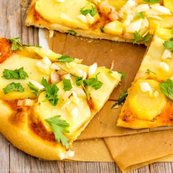 Homemade Vegan Potato Pizza