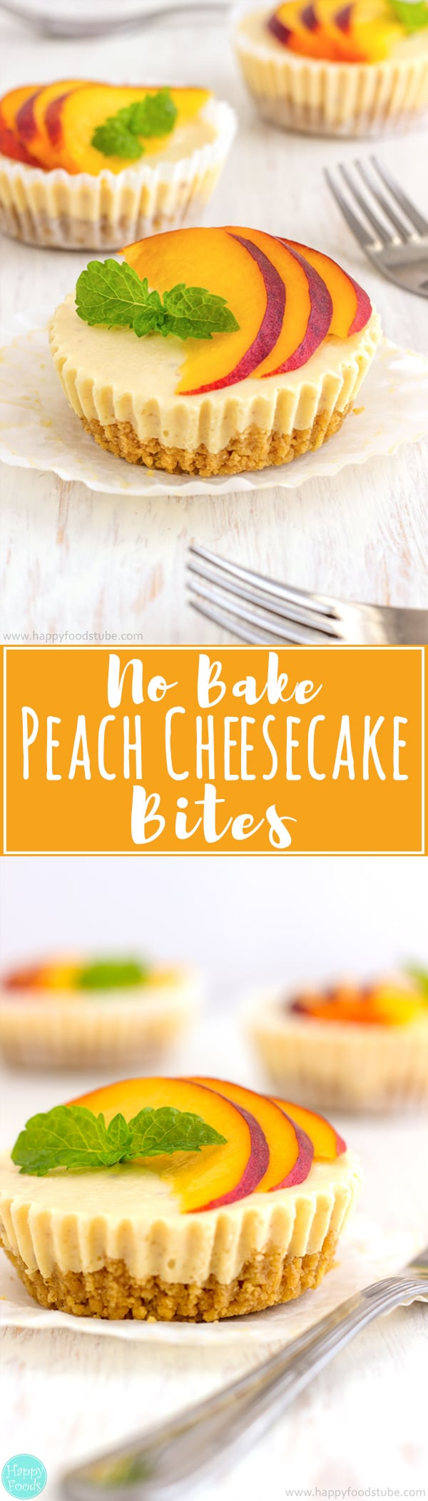 No Bake Peach Cheesecake Bites are so delicious party food. Make ahead mini desserts and they go so fast every time. Super easy recipe