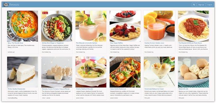 Best Food Photo Recipe Sharing Websites - Food Blogger Resources - Resepiz | happyfoodstube.com