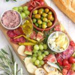 Simple Mediterranean Antipasti Platter