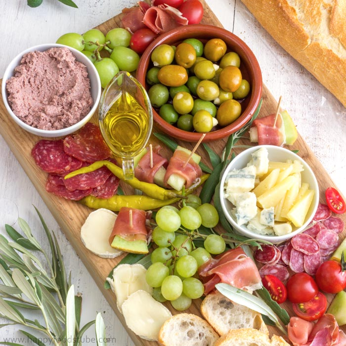 Simple Mediterranean Antipasti Platter Happyfoods Tube
