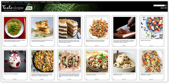 Best Food Photo Recipe Sharing Websites - Food Blogger Resources - Tasteologie | happyfoodstube.com