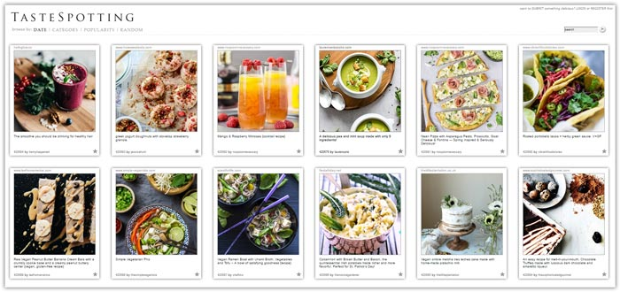 Best Food Photo Recipe Sharing Websites - Food Blogger Resources - Tastespotting | happyfoodstube.com