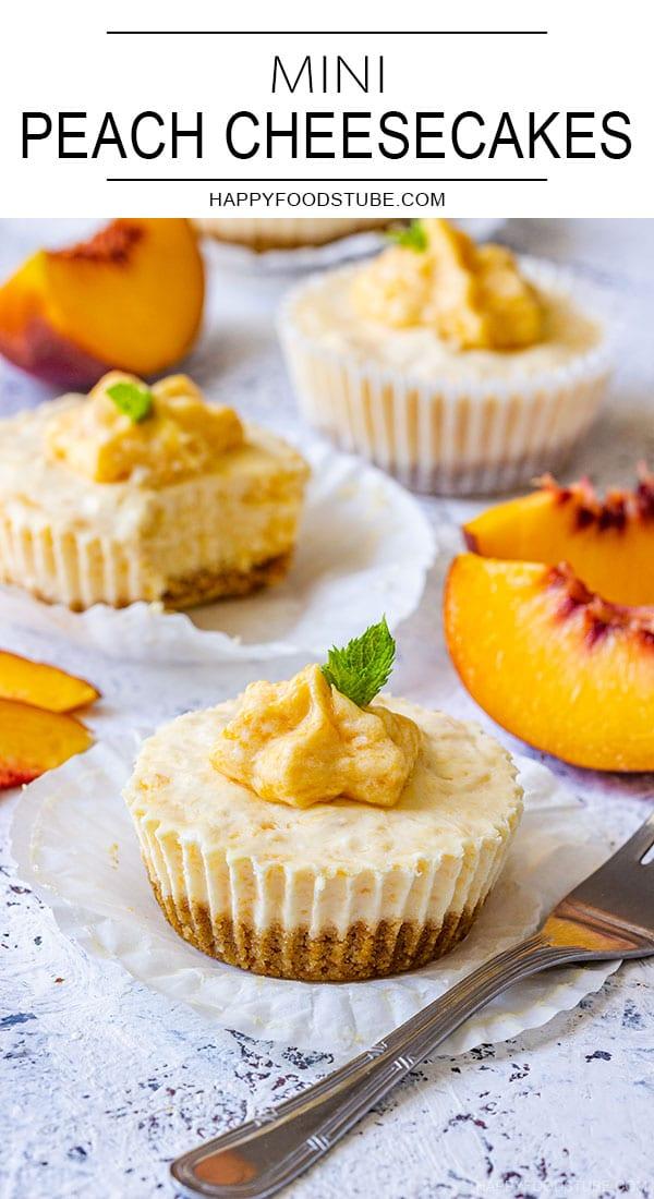 Mini Peach Cheesecakes Pin