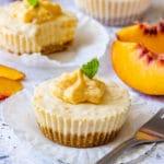 Peach Cheesecakes Recipe