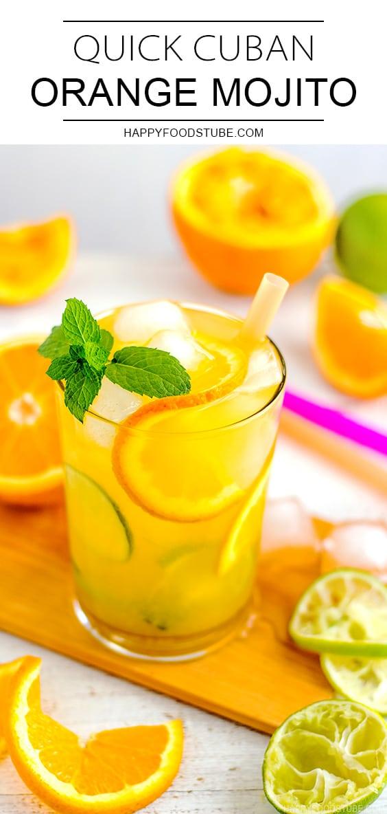 Quick Cuban Orange Mojito Cocktail Recipe
