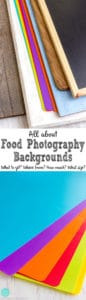 Everything you need to know about food affordable photography backgrounds. Food photgraphy tips! | happyfoodstube.com