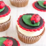 Easy Ladybug Cupcake Toppers (Video Tutorial)