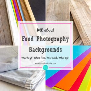 All about affordable food photography backgrounds. What to get? Where from? How much? What size?   happyfoodstube.com