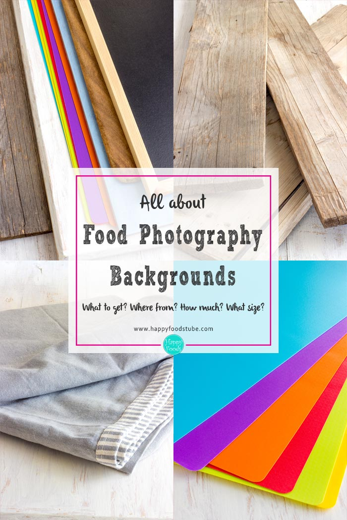 All about cheap food photography backgrounds. Tips & Tricks! | happyfoodstube.com