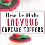 How to make Fondant Ladybug Cupcake Toppers. Easy Fondant Cupcake Decorating Tutorial. Ladybirds. | happyfoodstube.com