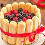 Mixed Berry Charlotte Cake