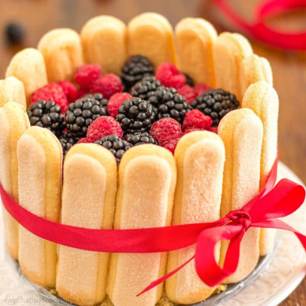 Mixed Berry Charlotte Cake