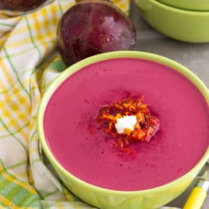 Oven Roasted Beet Soup with Coconut - HappyFoods Tube