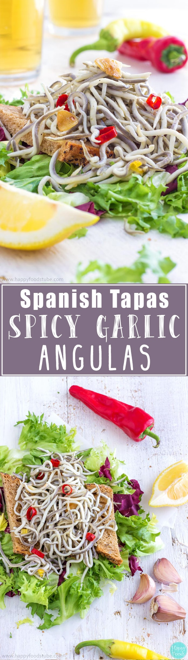 These Spicy Garlic Angulas/Gulas make a great appetizer or a snack. Angulas are a traditional Basque dish but nowadays they can be enjoyed as tapas all over Spain