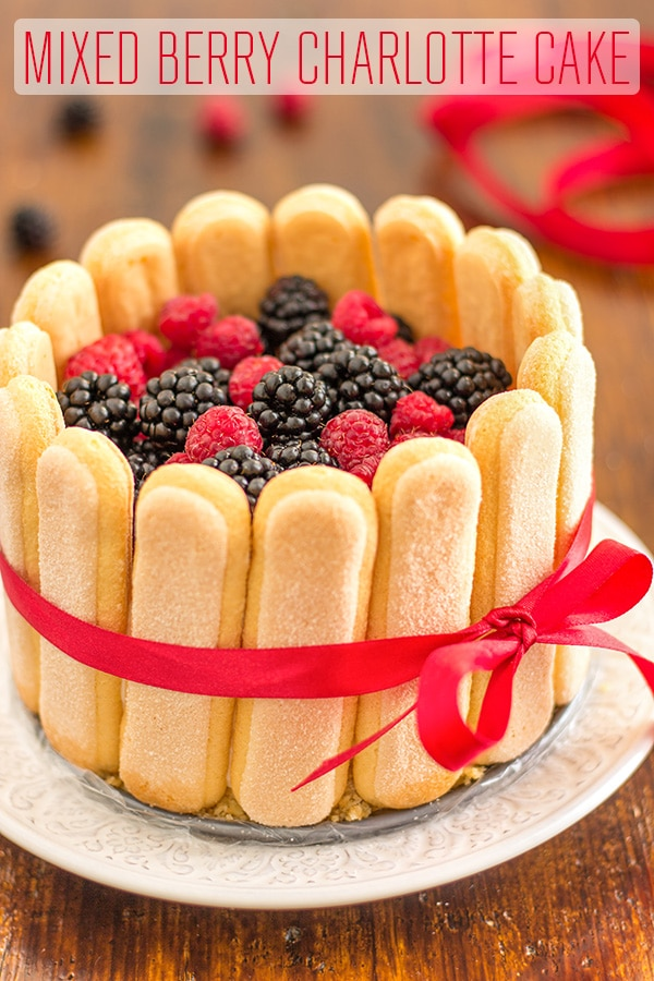 Easy Mixed Berry Charlotte Cake Recipe