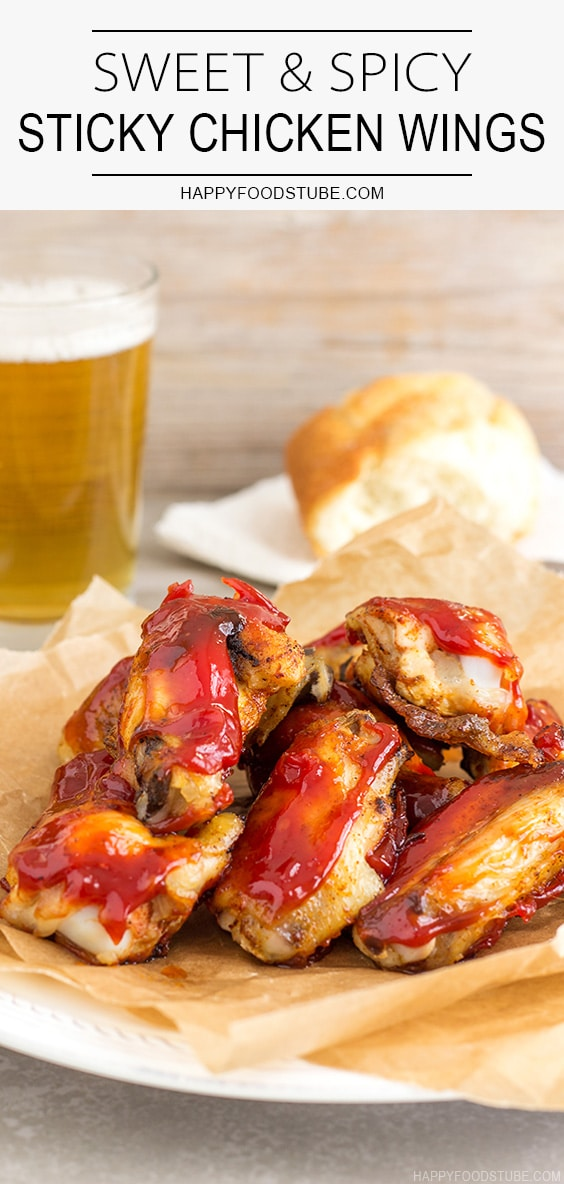Sweet & Spicy Sticky Chicken Wings