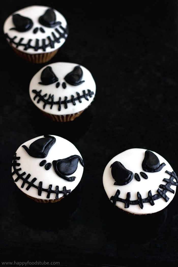 Halloween jack skellington cupcake toppers video tutorial - Jack skellington decorations halloween ...