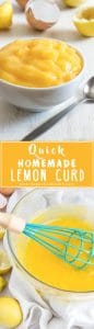 How to make Homemade Lemon Curd. Its great in desserts! Follow this easy & fast recipe to get creamy, sweet & sour perfection! Only 4 ingredients and its ready in less than 15 minutes. | happyfoodstube.com