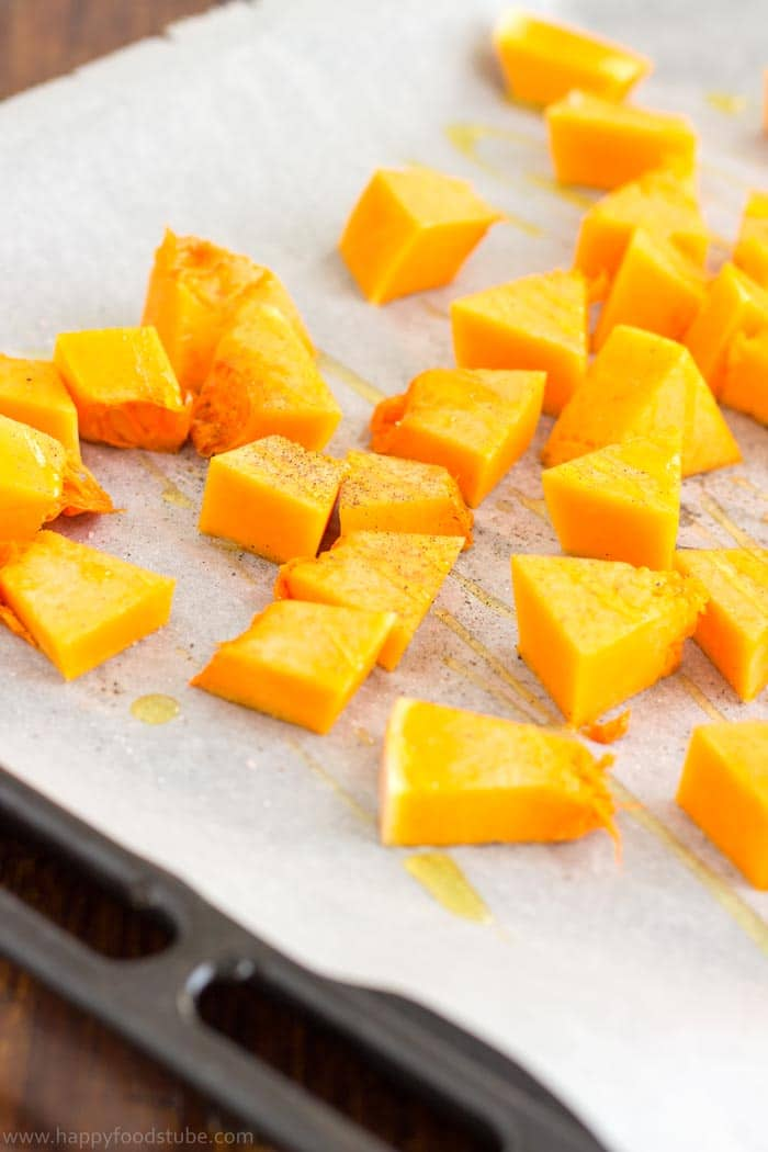 Oven Roasted Butternut Squash | happyfoodstube.com