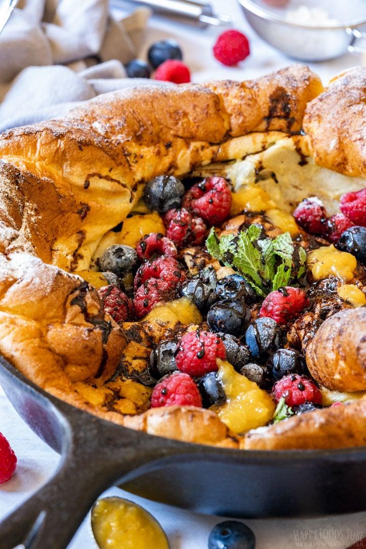 German pancake close-up