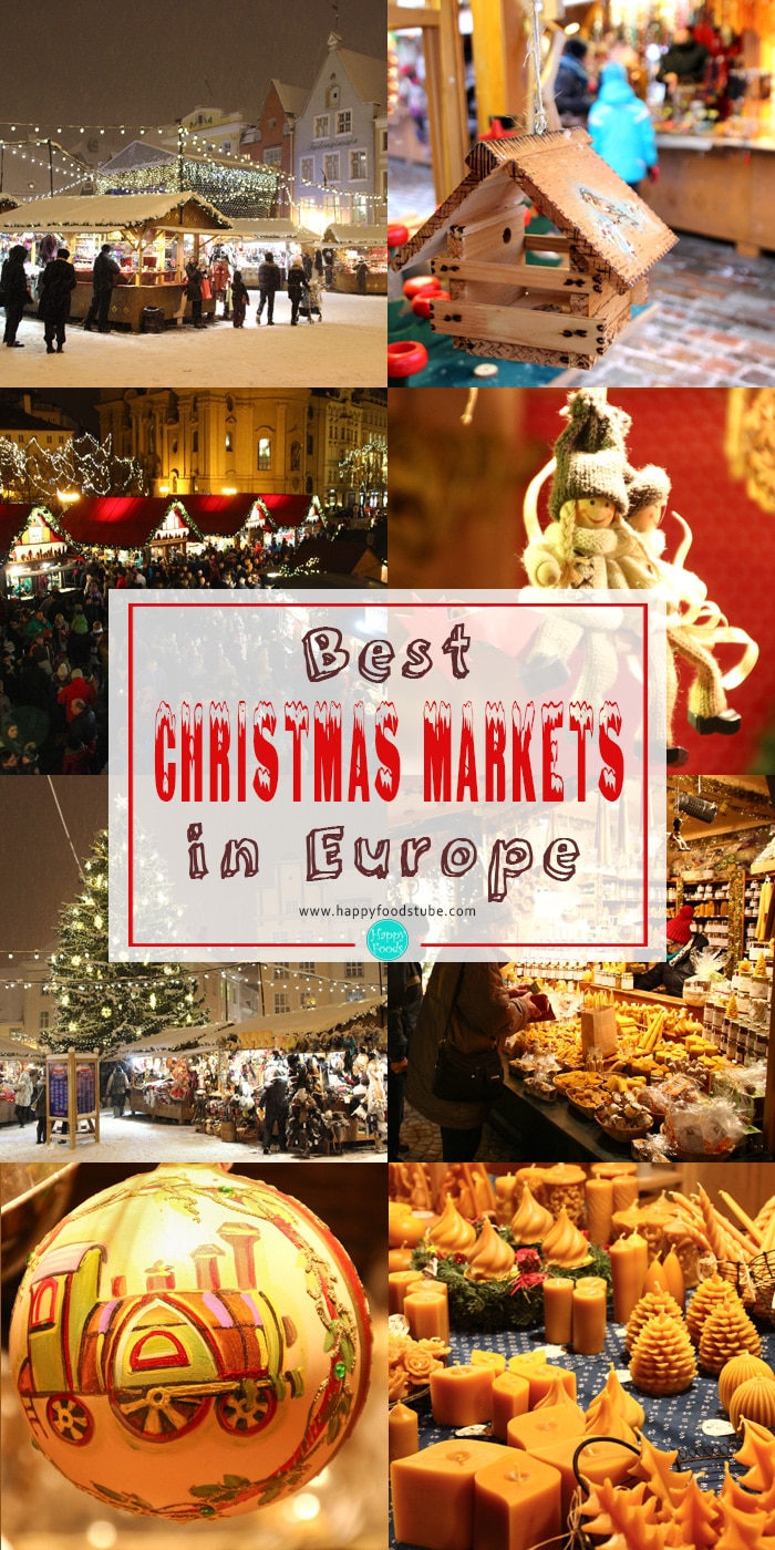 Have a look at these Best Christmas markets in Europe. They are magical, full of beautiful handmade products and delicious foods | happyfoodstube.com