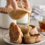 Gingerbread French Toast with Cinnamon Honey Sauce! | happyfoodstube.com
