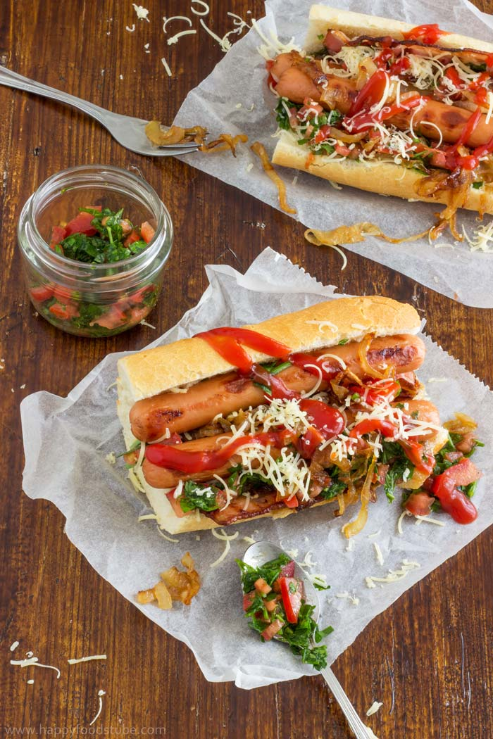 Homemade Gourmet Hot Dog Recipe Photo