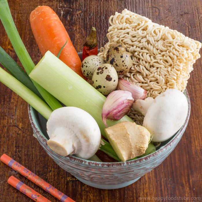 homemade-vegetable-ramen-with-quail-eggs-ingredients