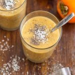 Dairy Free Persimmon Banana Breakfast Smoothie! | happyfoodstube.com