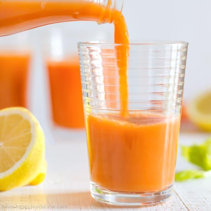 Winter Vitamin Boosting Juice | happyfoodstube.com